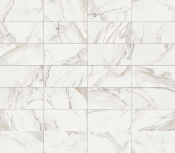 Effetto marmo Calacatta. I marmi: una selezione di preziose ispirazioni marmoree.