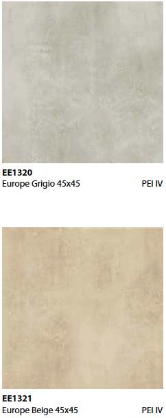 Pavimento effetto cemento Europe in gres porcellanato
