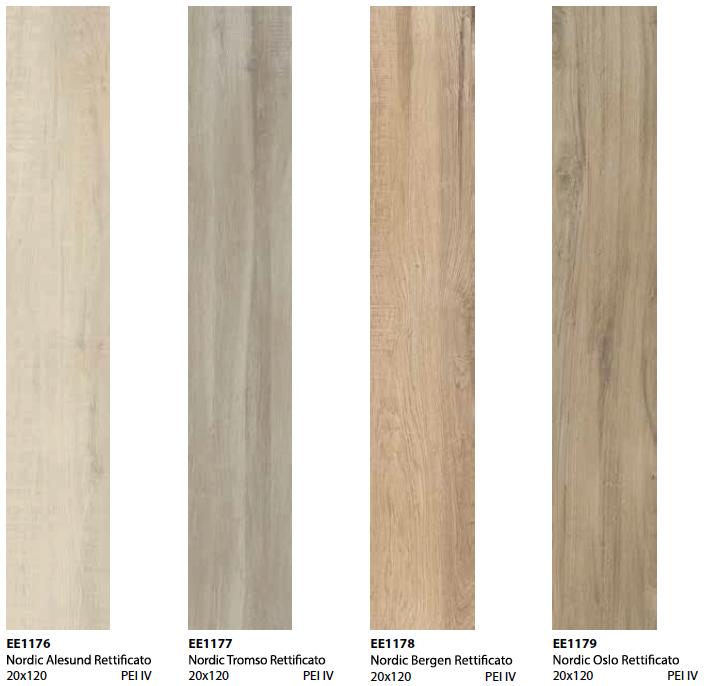 Pavimento effetto legno Nordic in gres porcellanato rettificato
