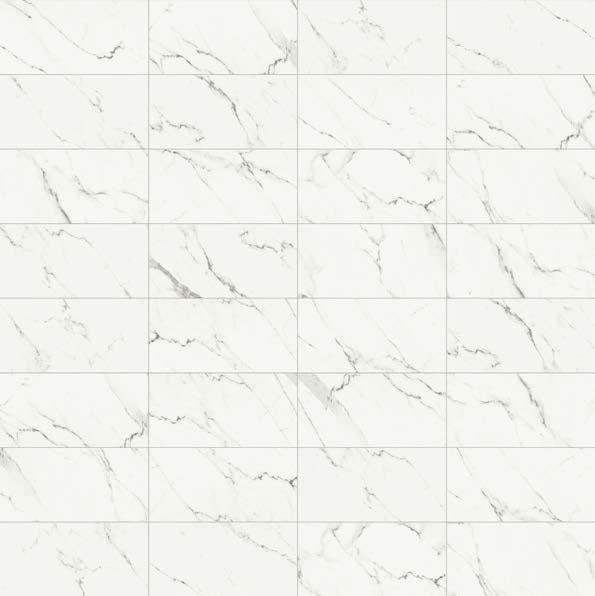 Effetto marmo Statuario. I marmi: una selezione di preziose ispirazioni marmoree.