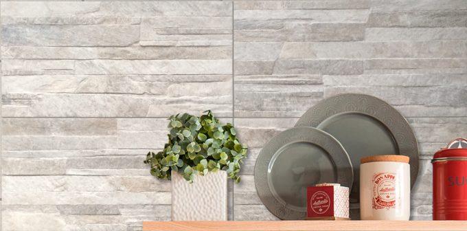 Wall Stone Grigio 25x50